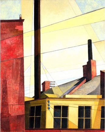 """From the Garden of the Chateau""  Charles Demuth  1921-1925"