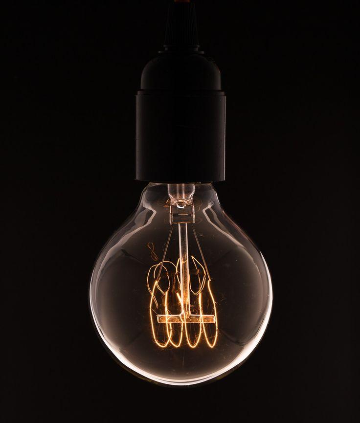 above sofa vintage light bulb medium globe quad loop filament - Antique Light Bulbs