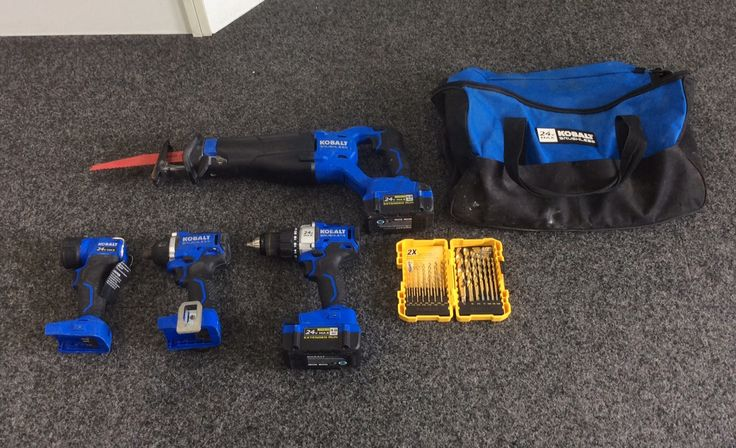 24-Volt Kobalt Max Lithium-Ion Brushless 4-Tool Cordless Combo Kit  Priced at $189.99 available at Gadgets and Gold!