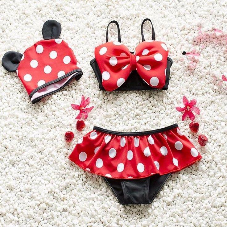 3 pcs Minnie Mouse Swimsuit / Little_Love_Boutique