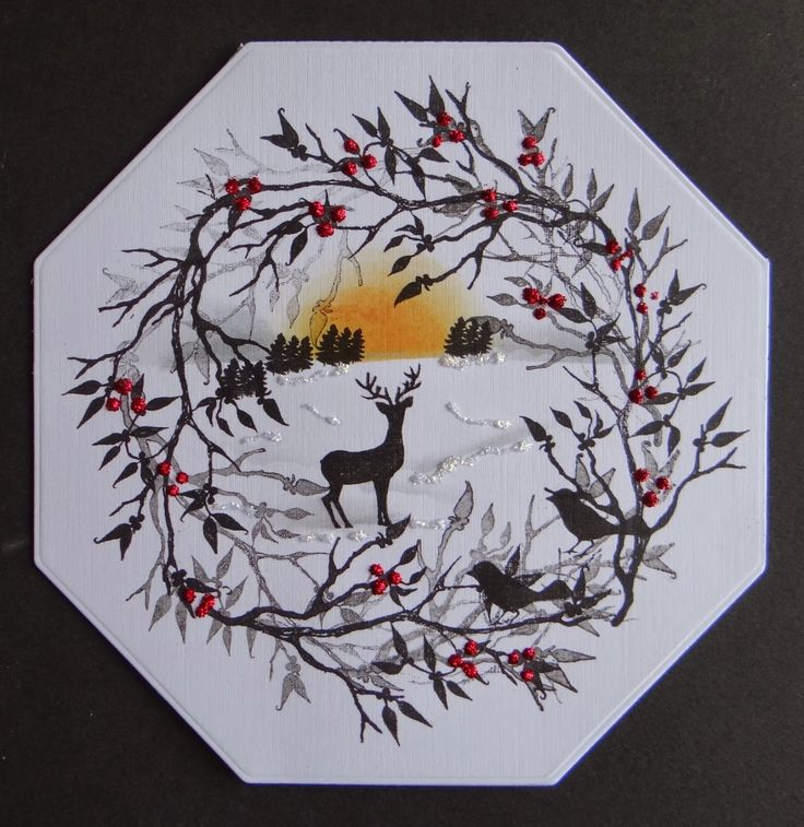 card-io stamps wreath