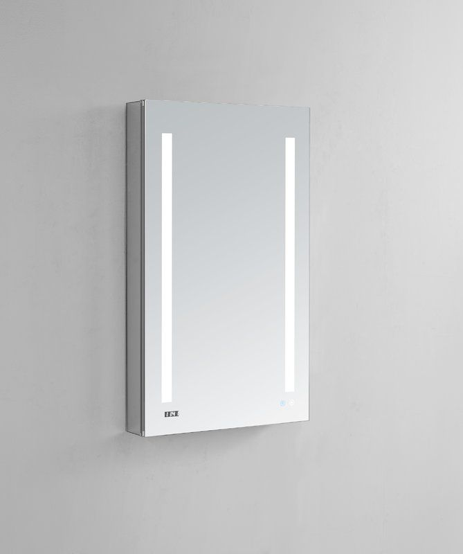 Donnelly 40 X 24 Recessed Or Surface Mount Frameless Medicine Cabinet With Led Lighting Lighted Medicine Cabinet Recessed Cabinet Mirror Interior