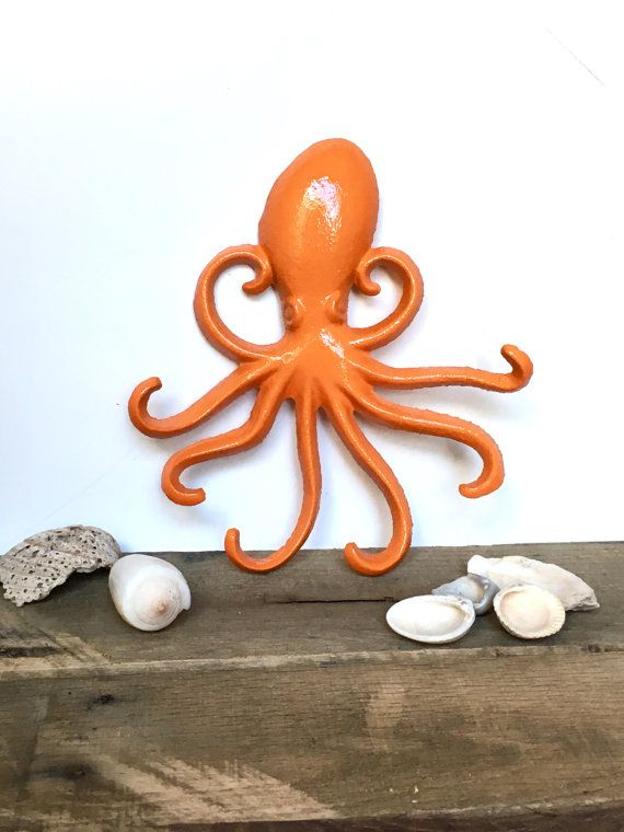 octopus necklace hooks choose your color wall necklace holder octopus bathroom decor