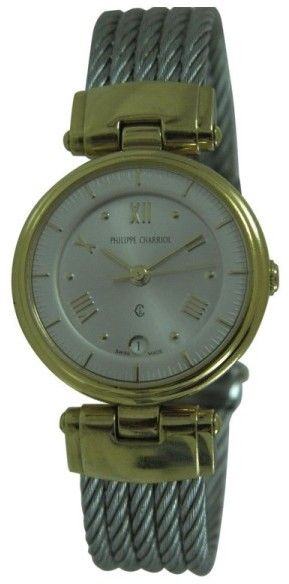 Philippe Charriol 63.95.1197 18K Yellow Gold Plated & Stainless Steel Roman Dial Quartz 26mm Womens Watch