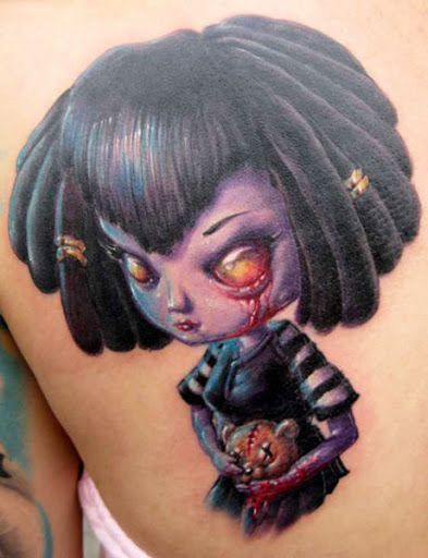 Cartoon Tattoo by Tommy Lee Wendtner