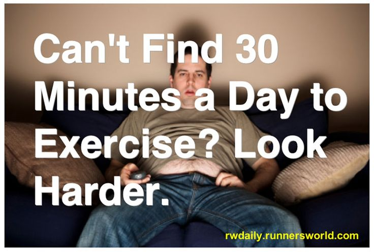 """Most of us can't seem to find 30 consecutive minutes most days to exercise. We do manage, however, to """"squeeze in"""" an average 2.8 hours per day of TV viewing."""