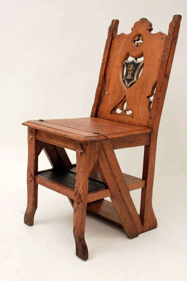 Library chair plans - 19th Century Metamorphic Library Chair