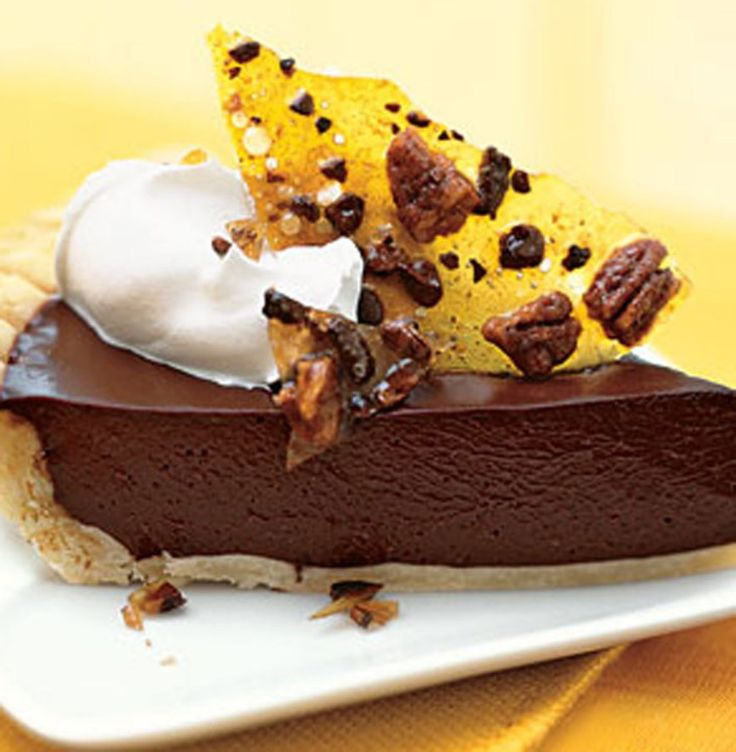 Dark Chocolate Pie with Cocoa Nib Praline | Foods and cooks with love ...