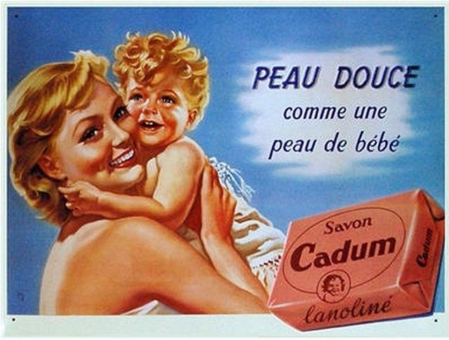 Le Bébé Cadum   old poster - ad for Cadum soap