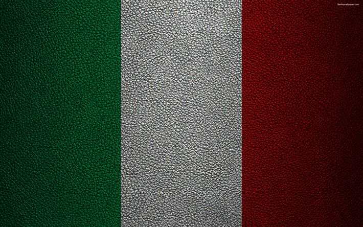 Download wallpapers Flag of Italy, 4k, leather texture, Italian flag, Europe, flags of Europe, Italy