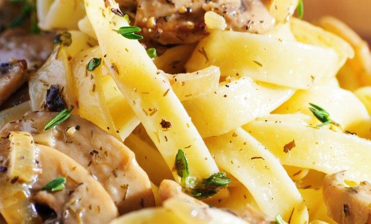 Hemlagad pasta när den är som bäst.