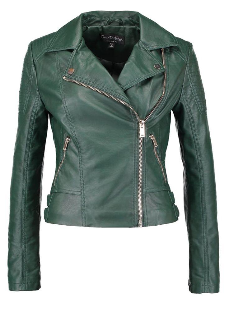Vestes en cuir Miss Selfridge Veste en similicuir - dark green  vert: 69,95 € chez Zalando (au 11/12/16). Livraison et retours gratuits et service client gratuit au 0800 797 34.