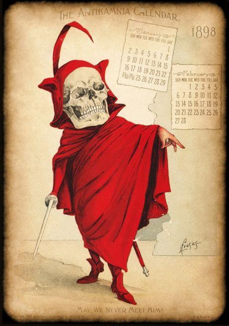 Morbidly amusing vintage illustrations from a calendar advertising a killer medicine! | Dangerous Minds