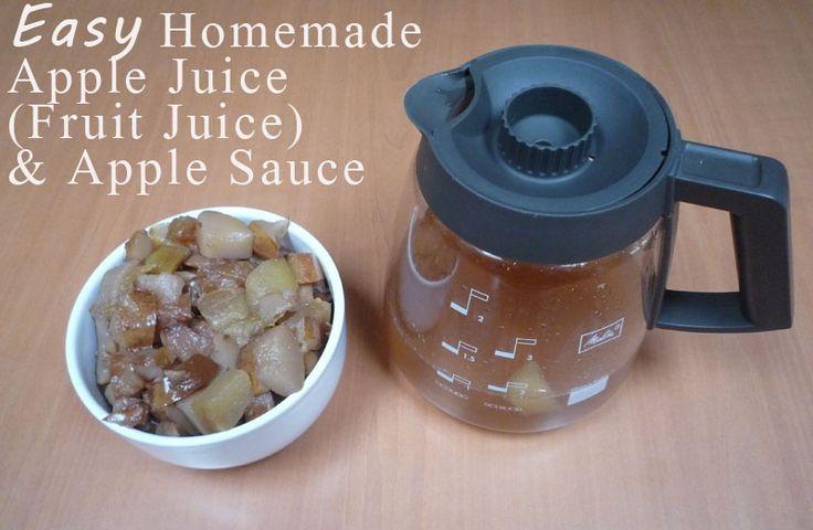 EASY Homemade Apple Juice and Apple Sauce
