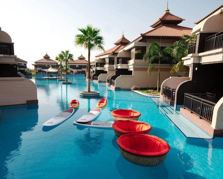 Float along or Paddle through out Lagoon #pool at #Anantara Dubai The Palm Resort & Spa in #UAE