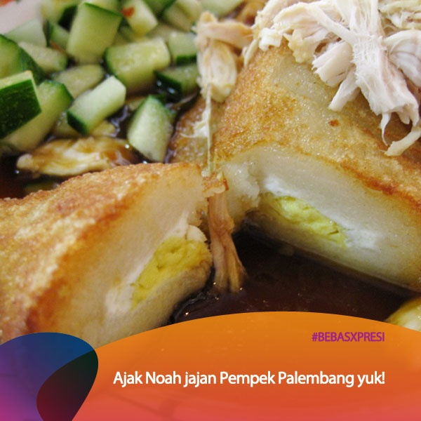 Seandainya Noah main ke Sumatera Selatan, ada yang mau ajak mereka jajan Pempek Palembang ga? Vote untuk daerah Sumatera Selatan yuk di bebasxpresi.com! #BebasXpresi