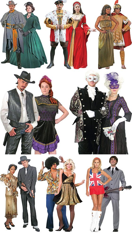 decades day ideas for girls Couples Decades costumes