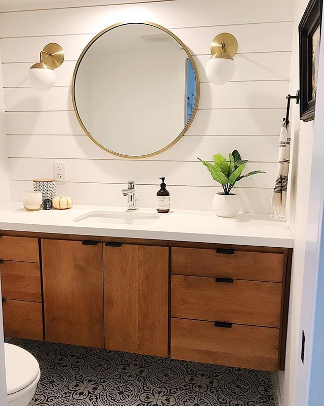 Modern Bathroom Remodel With West Elm Mirror Cedar And Moss