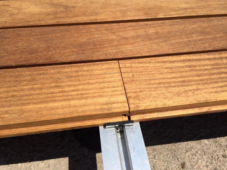 Exterpark Iroko magnet decking & cladding system #decking #cladding #iroko www.exteriordecking.co.uk