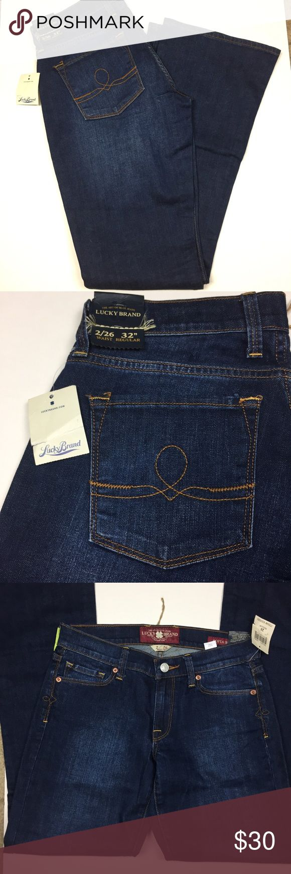 Lucky brand jeans women's size 26/32 regular NWT Regular fit women's lucky brand jeans size 26/32 NEW with tags. Outseam is 32, inseam 31in, waist 26in. These blue jeans have no flaws. Lucky Brand Jeans Boot Cut