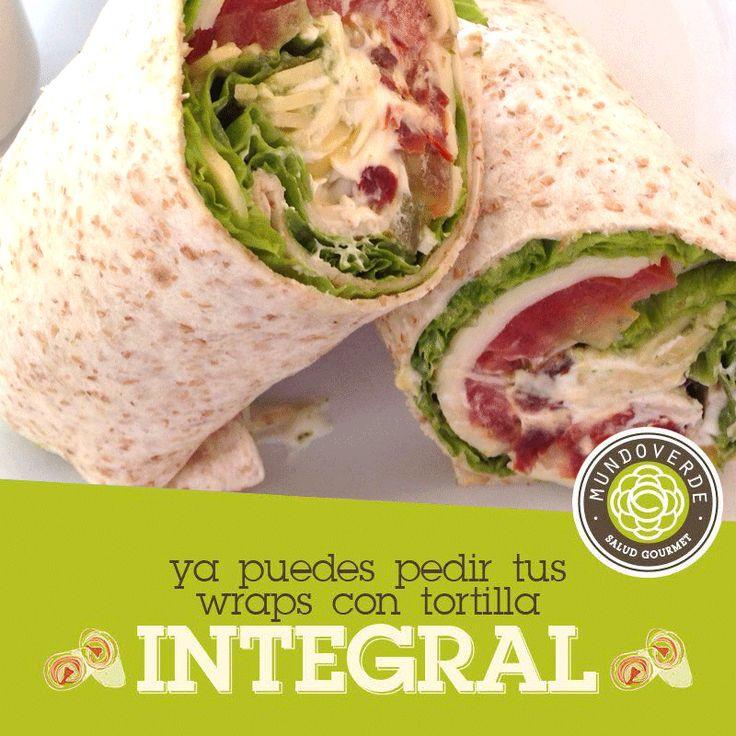 Nada más rico y saludable que tus wraps y derretidos con la nueva tortilla integral. En @mundoverdesaludgourmet pensamos en tu #salud a la hora de comer