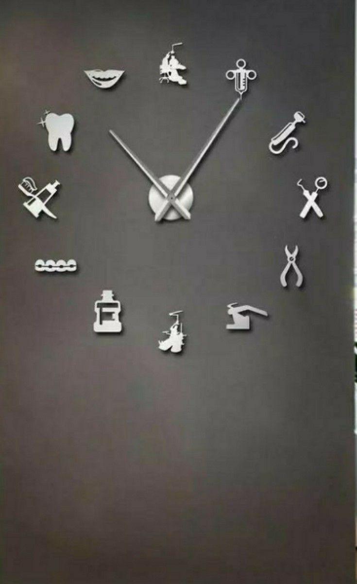 Dentist Wall Clock A Perfect Diy Wall Clock For Your Dental Office In 2020 Wall Clock Clock Diy Clock Wall