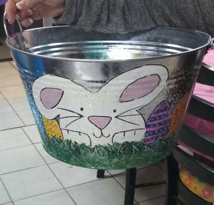 Painted Easter Pails
