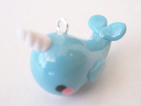Cute Kawaii Narwhal Charm Handmade Polymer Clay by Didote on Etsy, $6.00