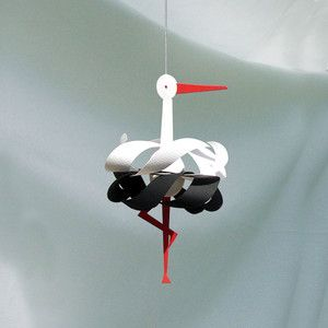 Stork Single: Delicate yet funky mobiles by Livingly http://www.livingly.dk/