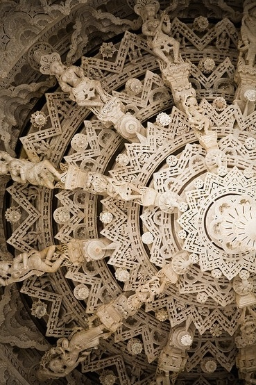 carved marble at Adinatha Temple, Ranakpur - loved it here!!