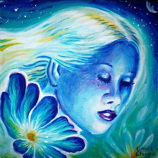 Floare albastra, portretul muzei lui Eminescu