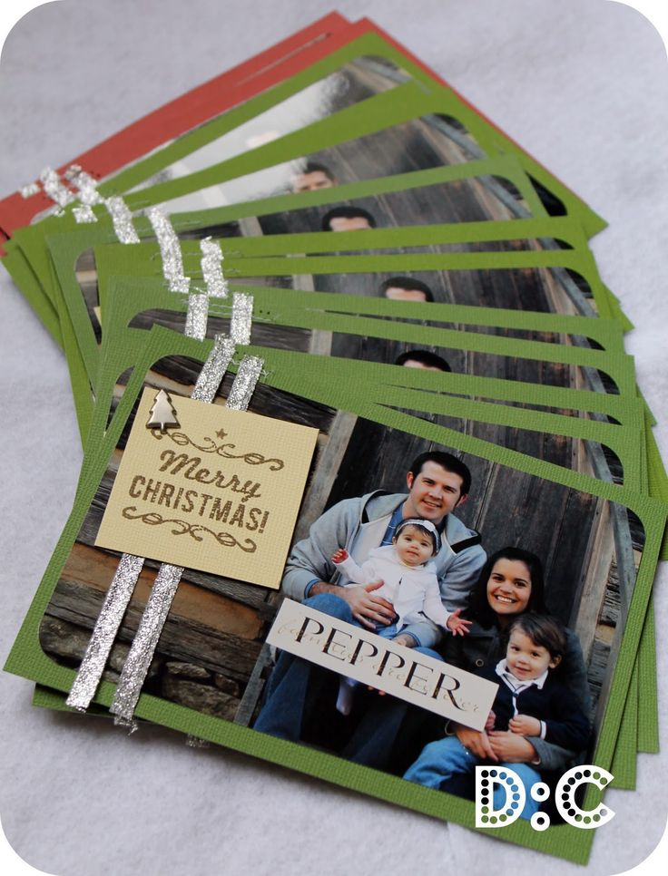Homemade Photo Christmas Cards - probably cheaper than using printed ones and definitely more meaningful <3
