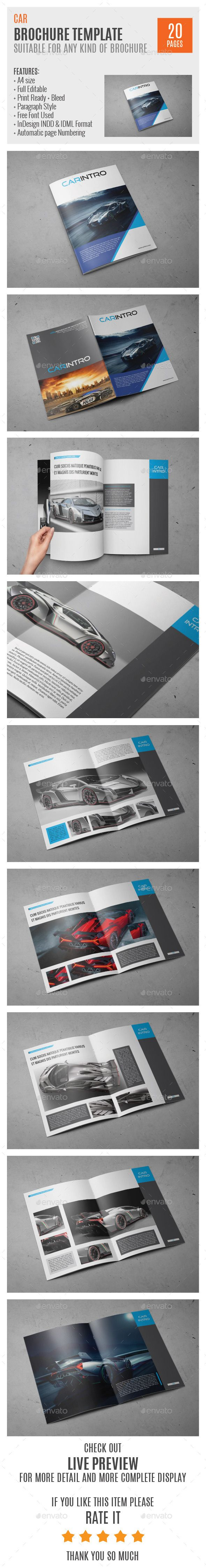 Car A4 Indesign Brochure Template #design Download: http://graphicriver.net/item/car-a4-indesign-brochure-template-0036/10281883?ref=ksioks