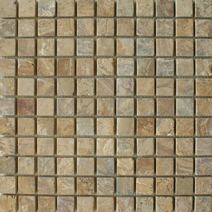 Golden Sand Square Small Tiles Persian Stone Mosaic Tiles 300x300x10mm Tiles