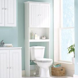 Beauty Line White Over The Toilet Storage Cabinet Bathroom
