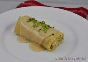 "Domestic Diva: Chicken and Dairy Free ""Ricotta"" Lasagne Rolls"