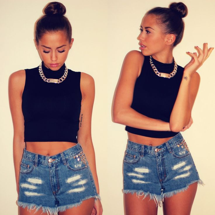 156 best High Waisted Shorts images on Pinterest