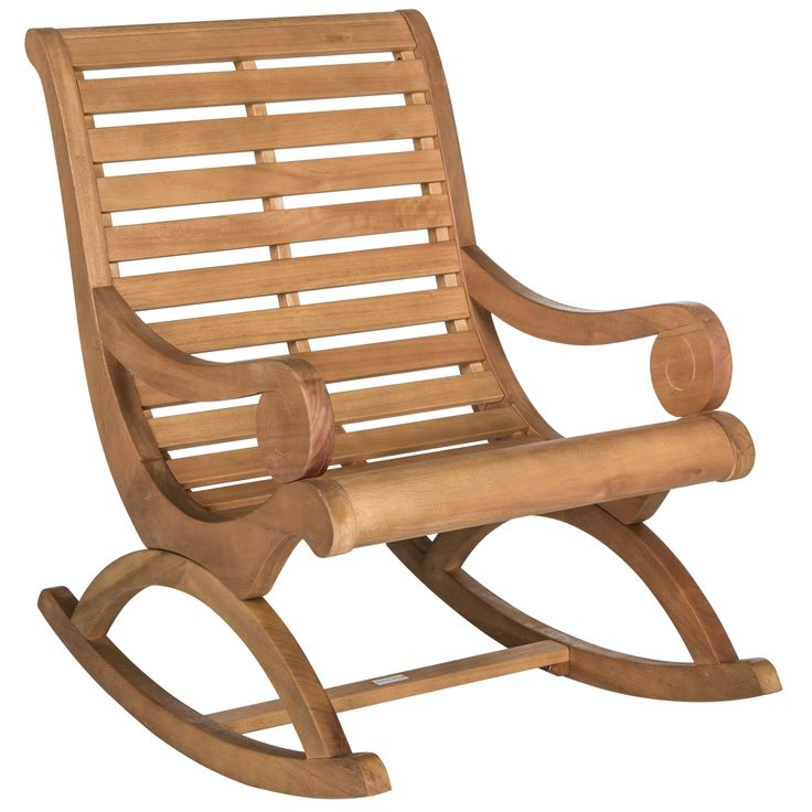 Safavieh Outdoor Living Sonora Teak Brown Rocking Chair - Overstock Shopping - Big Discounts on Safavieh Sofas, Chairs & Sectionals