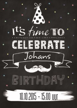 It's time to celebrate Johans birthday! #Hallmark #HallmarkNL #uitnodiging #feest