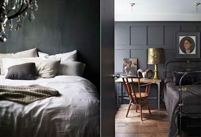 10 stijlvolle zwarte slaapkamers - Chic | ELLE Decoration NL