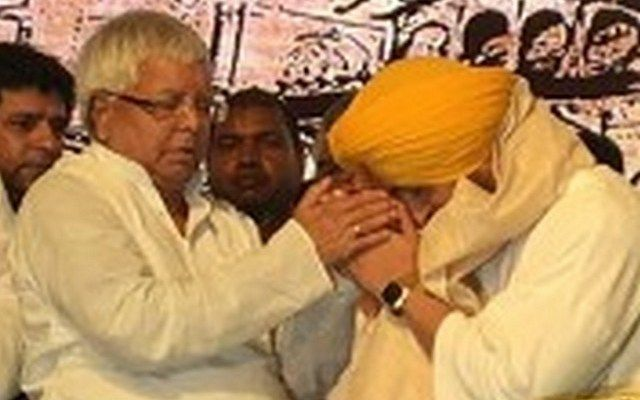 Pictures: Here's What Happened When Diljit Dosanjh Met Lalu Prasad Yadav!