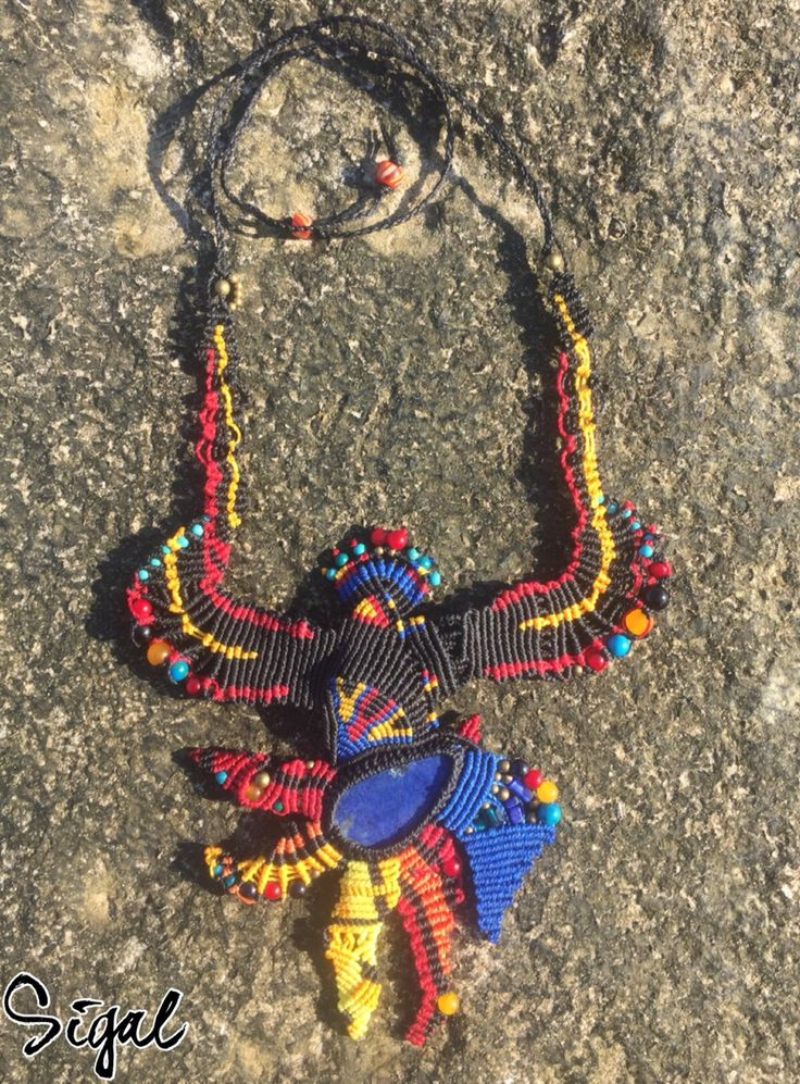 My new creation  #micro_macrame #macrame_necklace #onepiece #amazing_macrame_necklace #unique #micro_macrame_necklace