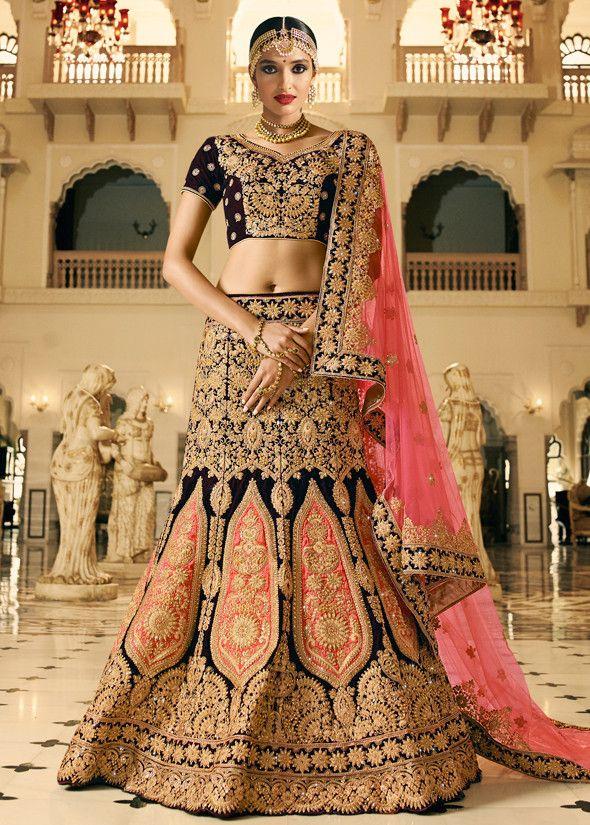Stunning Rich Brown #Bridal #Lehenga Choli