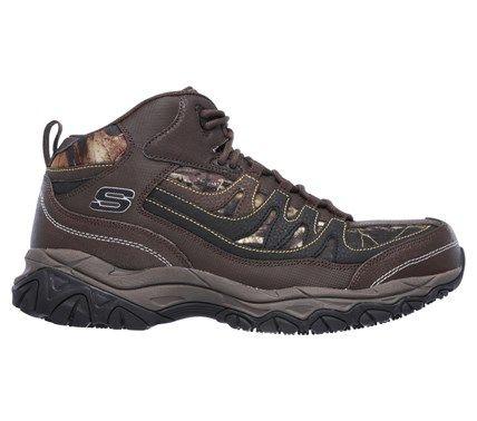 Skechers Work Men's Holdredge Rebem Memory Foam Steel Toe Work Boots (Brown/Camoflauge)