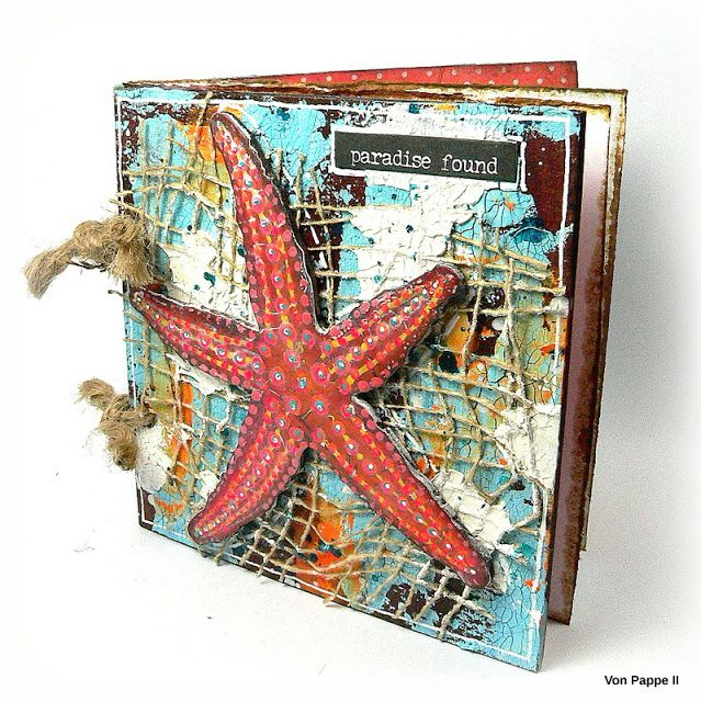 Calico Craft Parts: Paradise Found - a Mini Journal - by Claudia