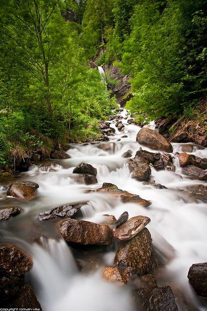 Piste des cascades, Sixt Fer A Cheval, Haute-Savoie, Rhône-Alpes, France