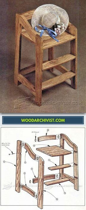 High Chair Plans Children S Furniture Plans And Projects