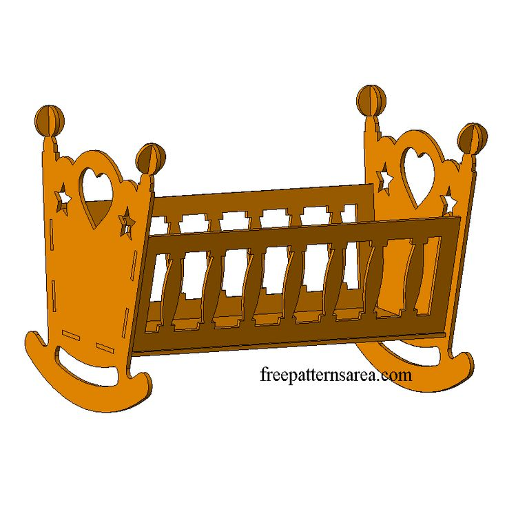 18 inch (45 cm) Wooden Doll Cradle and crib CNC Laser Cut Toy Plans for dolls. You can prepare a great toy for children with materials such as 6 mm thick mdf, plywood, wood. And you can gift them to children. All you need to do is cut the dxf plan in your laser cutting
