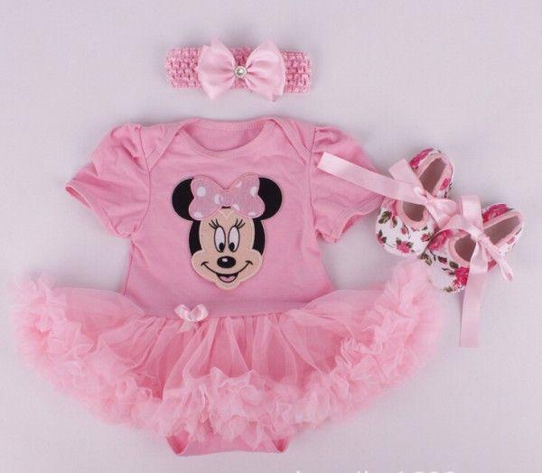 2015 Baby Girl Infant 3pcs Clothing Sets Tutu Romper Dress/Jumpersuit+Headband+Shoes Christmas Bebe Birthday Costumes Vestidos