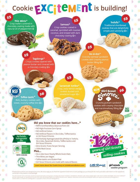 2018 Girl Scout Cookie Program | Crescenta Valley Girl Scouts Service Unit